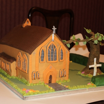 Church shaped cake