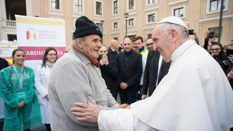 Pope with poor