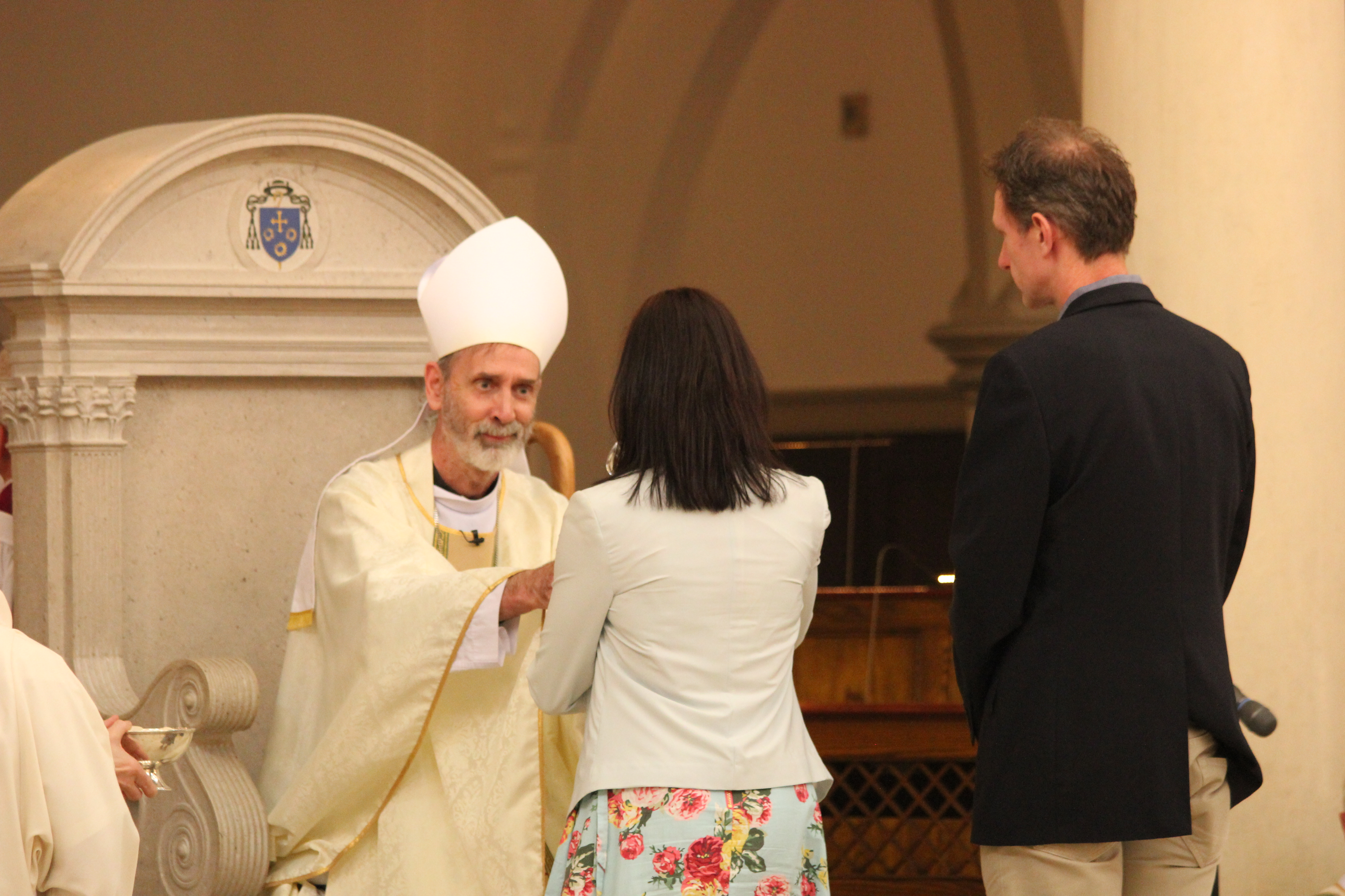Bishop receives gifts