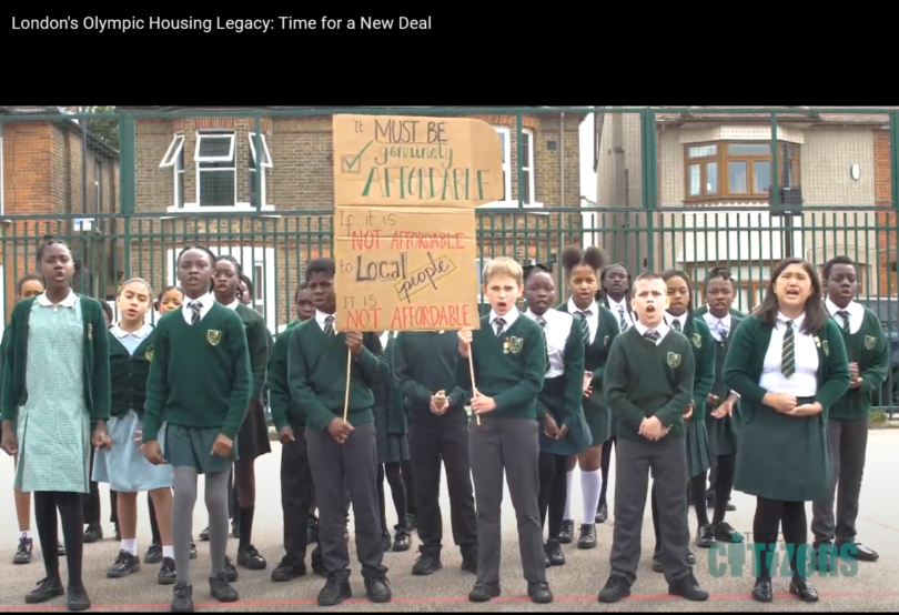 St Antony's School children protesting