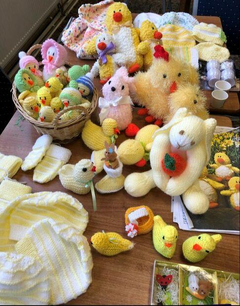 Knitting Group Easter goods