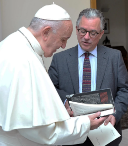 Pope Francis and Austen Ivereigh