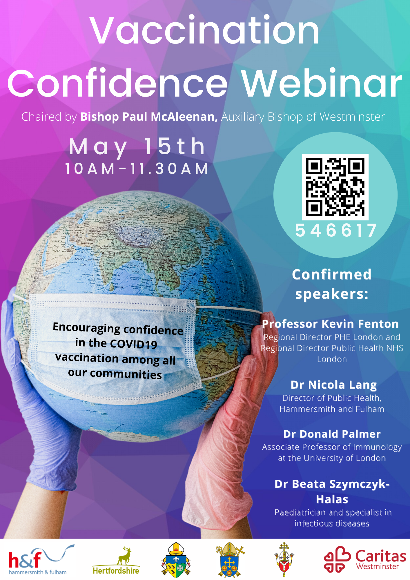 Vaccine Confidence Webinar poster