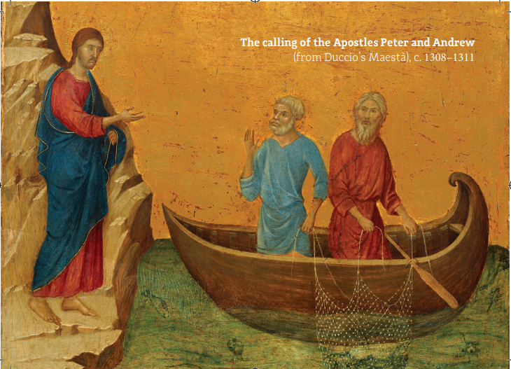 the Calling of the Apostles by Duccio