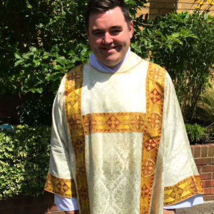 Man in vestments