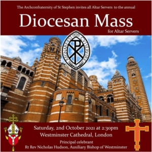 poster showing Westminster Cathedral