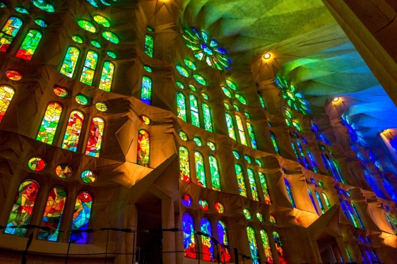 Light through church windows